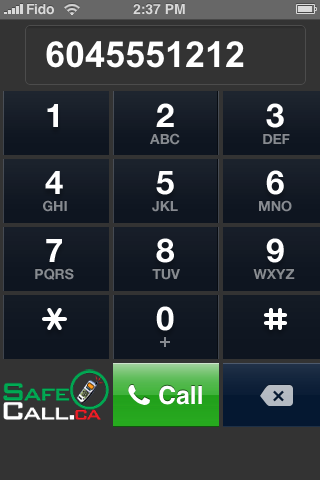 SafeCall on iPhone